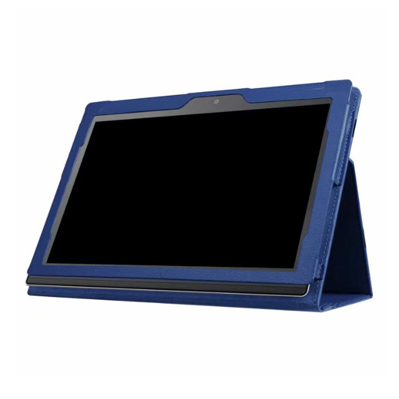 Protective PU Leather Folio Stand Cover Case for Lenovo MIIX 320 10.1 Inch - Dark Blue