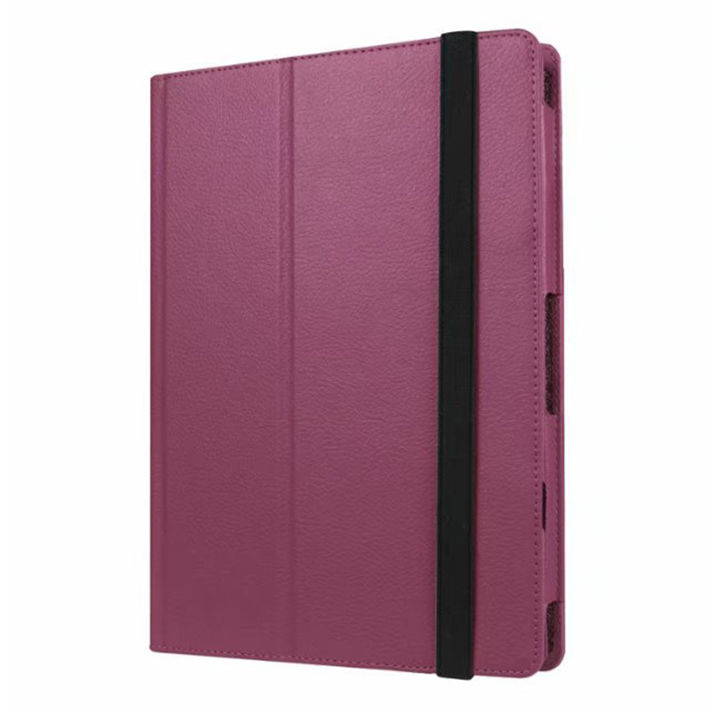 Protective PU Leather Folio Stand Cover Case for Lenovo MIIX 320 10.1 Inch - Purple