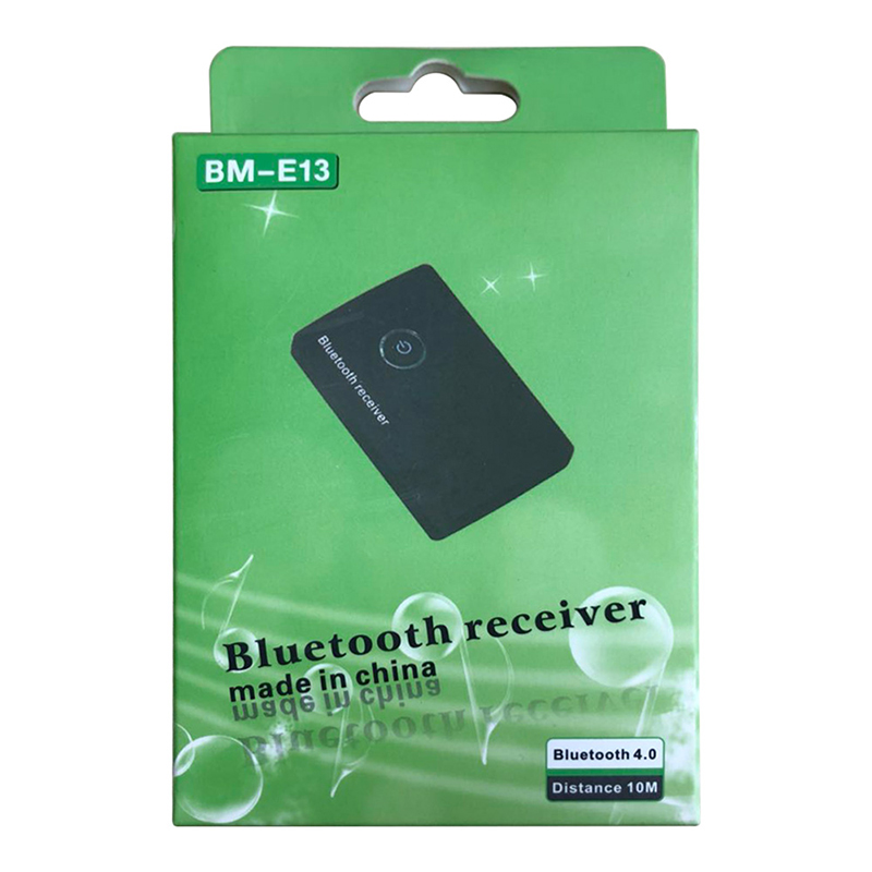 BM-E13 V4.0 Wireless Bluetooth Receiver 3.5MM Car Home Stereo Audio Adapter - Black