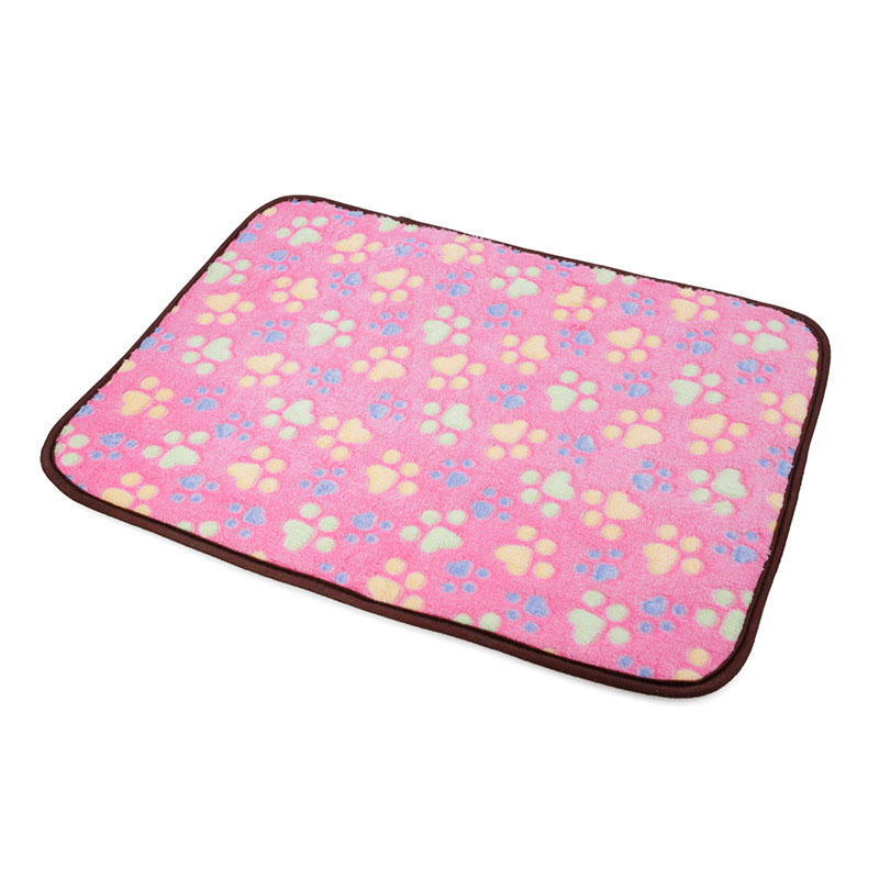 Size XXL Pets Cushion Dual Use Mat Cooling Warm Sleeping Pad Bed for Summer Winter - Pink