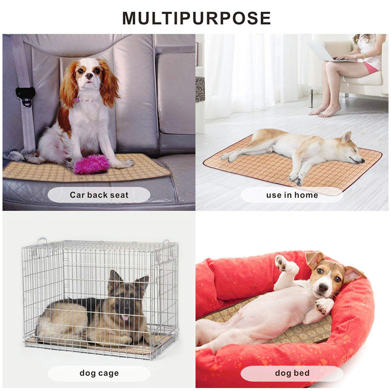 Size M Dual Use Pet Cooling Sleeping Mat Dog Cats Puppy Cushion Cold Heat Pad Bed - Purple