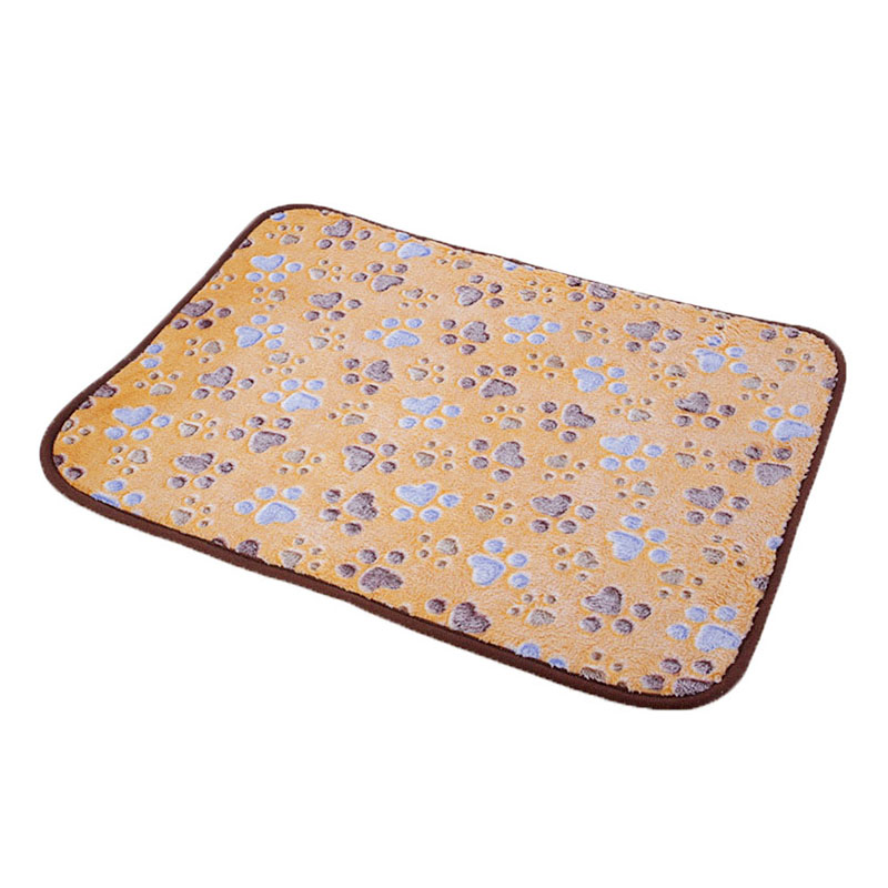 Size L 2in1 Dual Use Pet Dog Cat Cooling Sleeping Mat Cushion Cold Bed Pad - Light Brown
