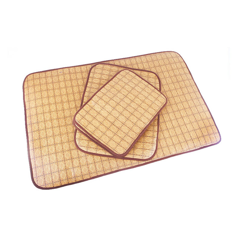 Size XXL Pets Cushion Dual Use Mat Cooling Warm Sleeping Pad Bed for Summer Winter - Dark Brown