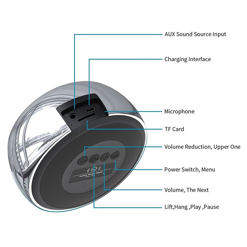 BS01 Mini Wireless Bluetooth Speaker Luxury Metal Portable Outdoor Music Player Box - Black