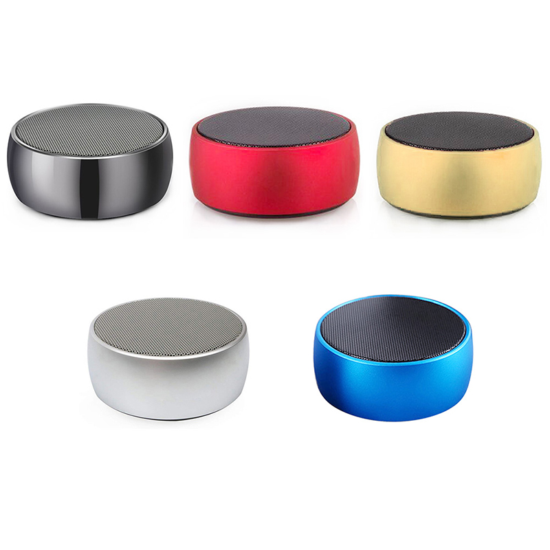 BS01 Mini Wireless Bluetooth Speaker Luxury Metal Portable Outdoor Music Player Box - Red