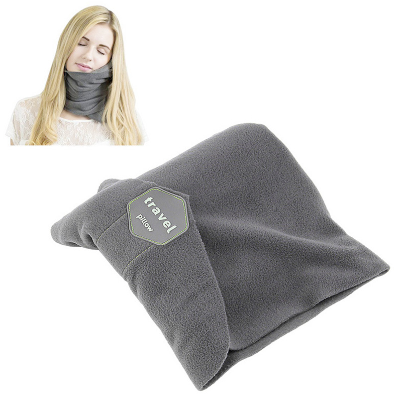 Travel Pillow Soft Neck Head Support Sitting Sleep Office Nap Pillow - Grey