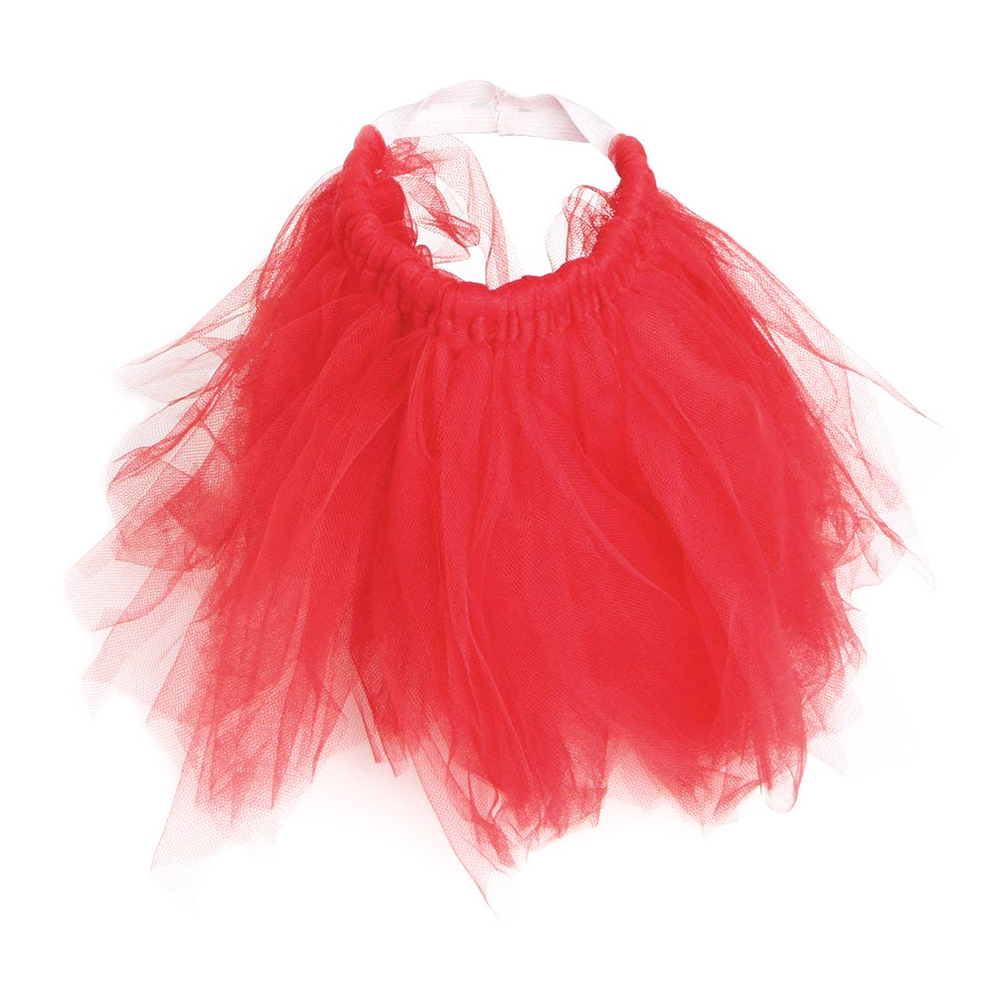 Size S Pet Dog Puppy Princess Lace Tutu Dress Mesh Skirt Clothes - Red