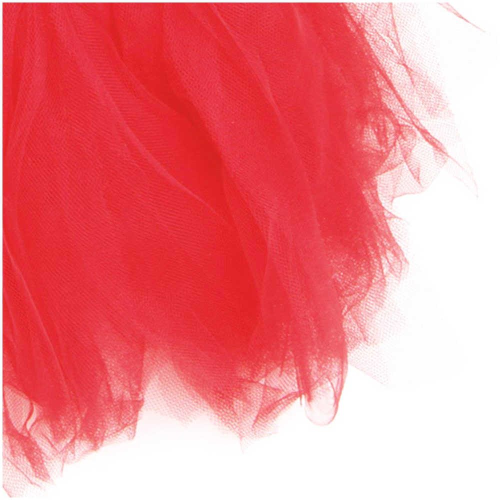 Size M Pet Princess Party Tutu Dress Small Dog Puppy Lace Mesh Skirt Apparel Clothes - Red