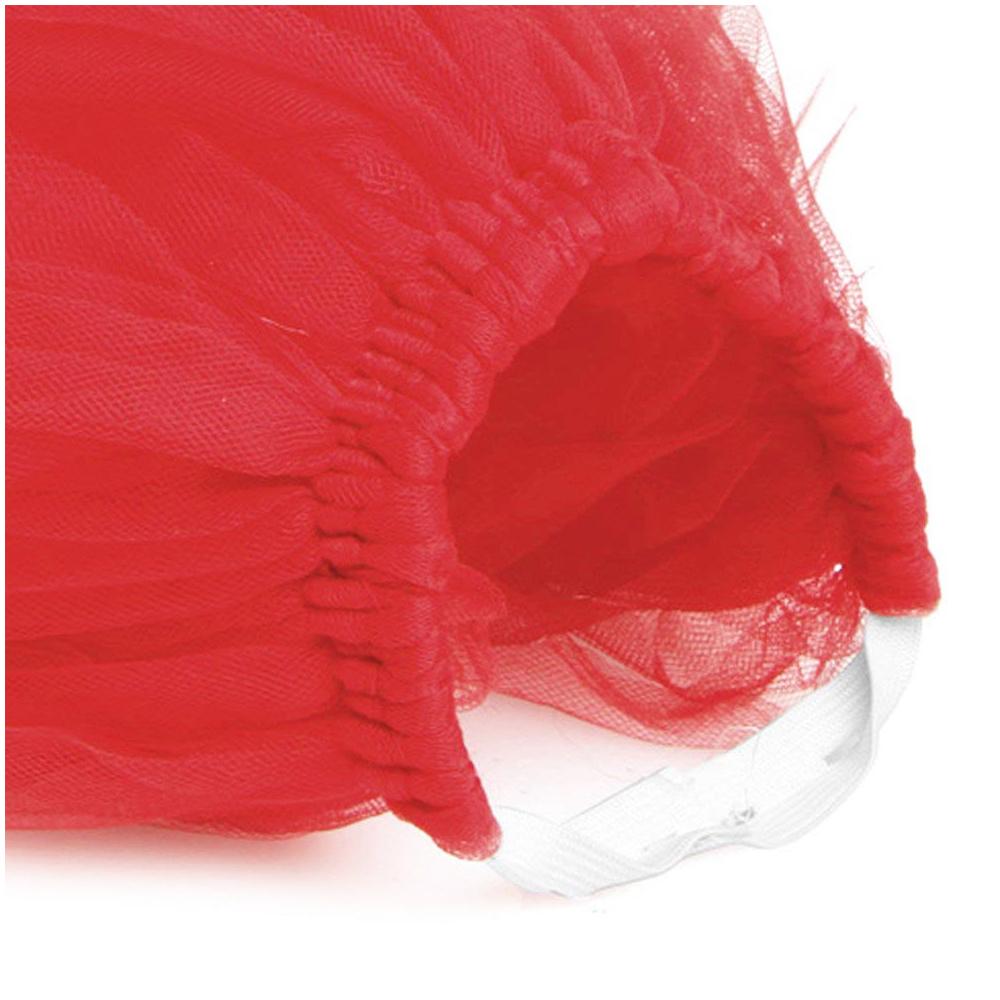 Size L Pet Dog Puppy Cat Princess Lace Mesh Skirt Tutu Party Dress Apparel Clothes - Red