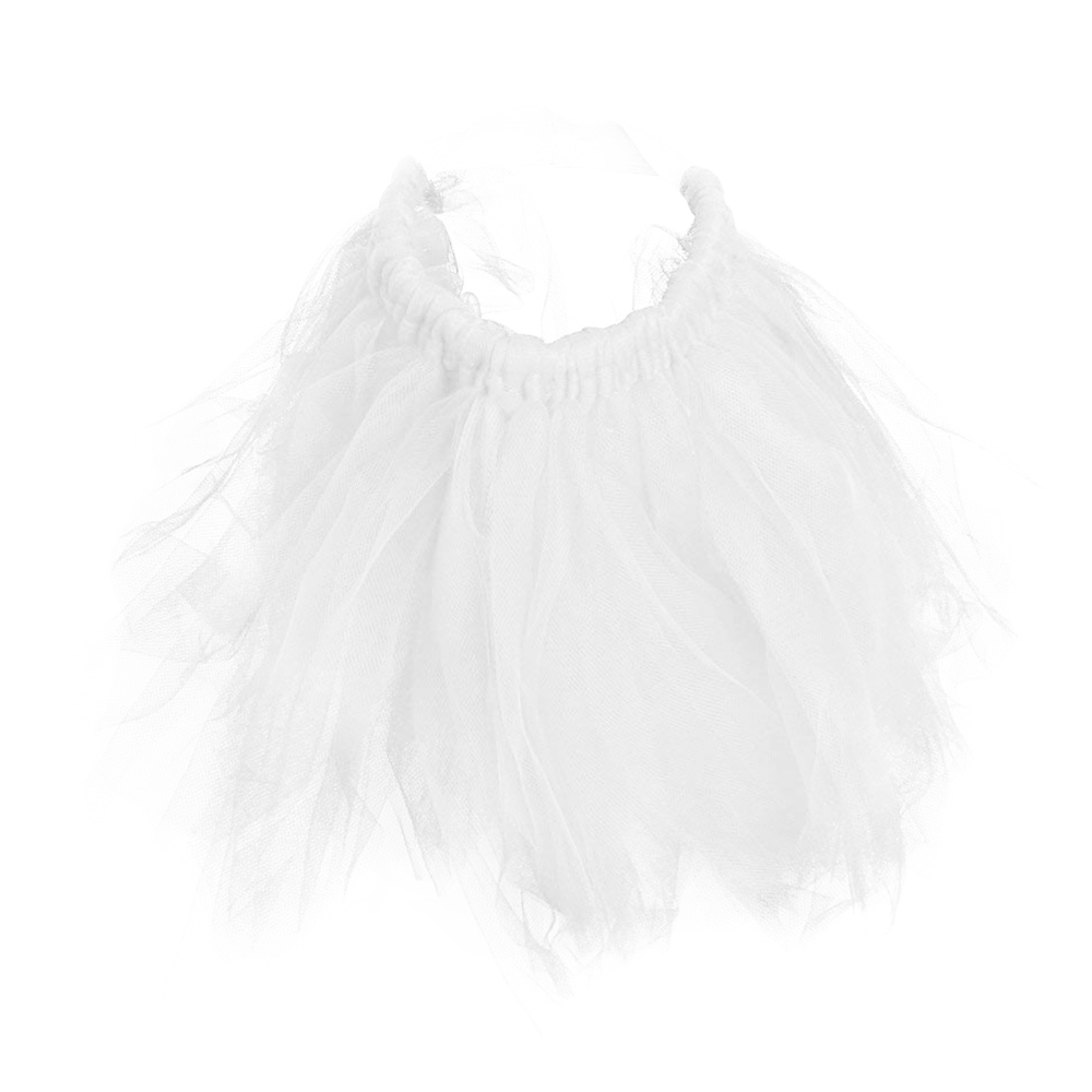 Size L Pet Dog Puppy Cat Princess Lace Mesh Skirt Tutu Party Dress Apparel Clothes - White