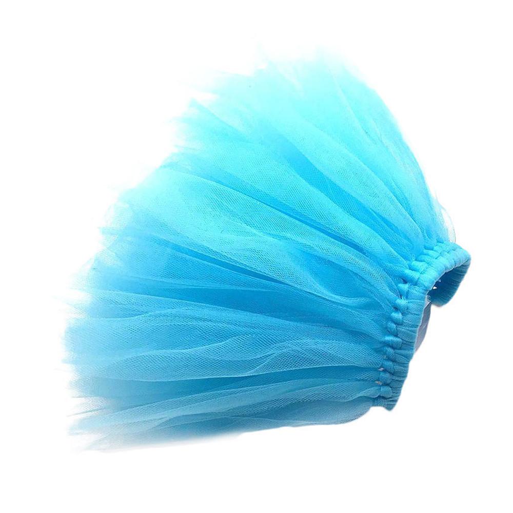 Size L Pet Dog Puppy Cat Princess Lace Mesh Skirt Tutu Party Dress Apparel Clothes - Blue