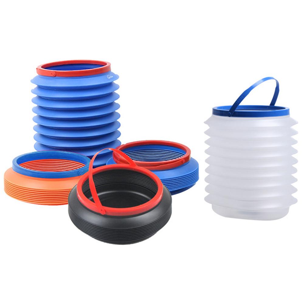 Multifunction Folding Bucket 4L Retractable Portable Magic Container Car Trash Bin Barrel Fishing Box - Orange