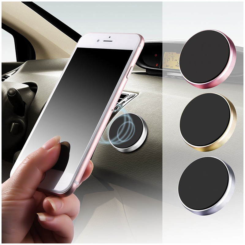 Magnetic Metal Car Dashboard Mount Universal Phone GPS Holder Stand - Silver