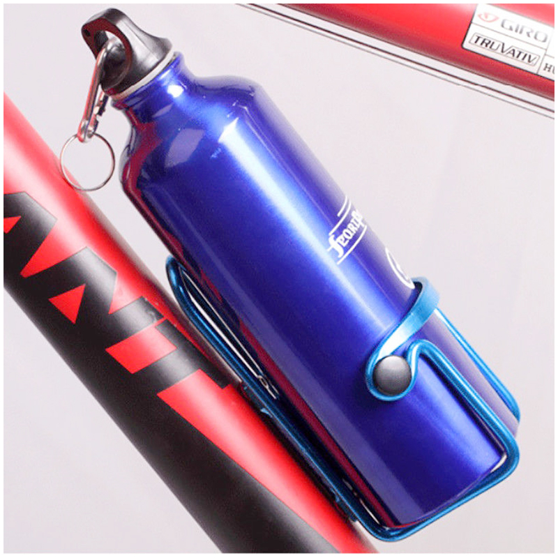 Bicycle Cycling Water Bottle Cage Drink Holder Carrier Rack Bracket - Blue