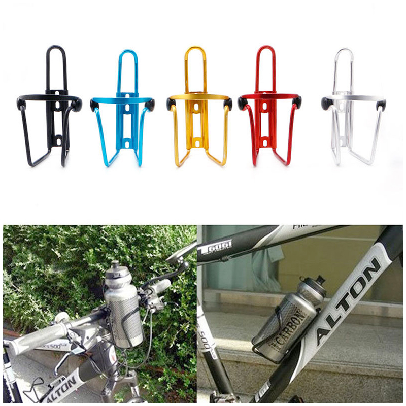 Bicycle Cycling Water Bottle Cage Drink Holder Carrier Rack Bracket - Silver
