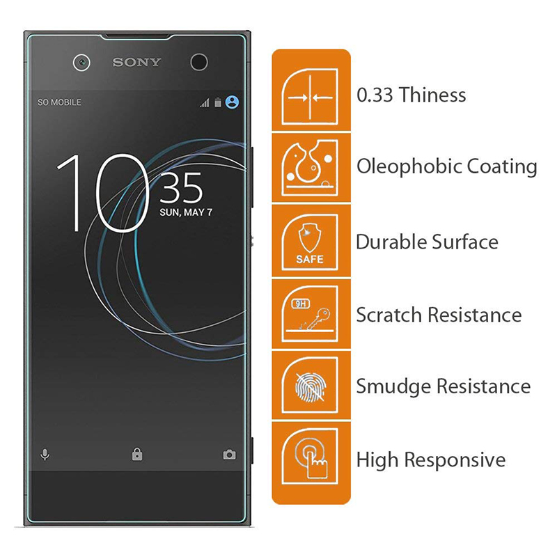 9H Hardness Scratch Resistant Tempered Glass Screen Protector for Sony Xperia XA1