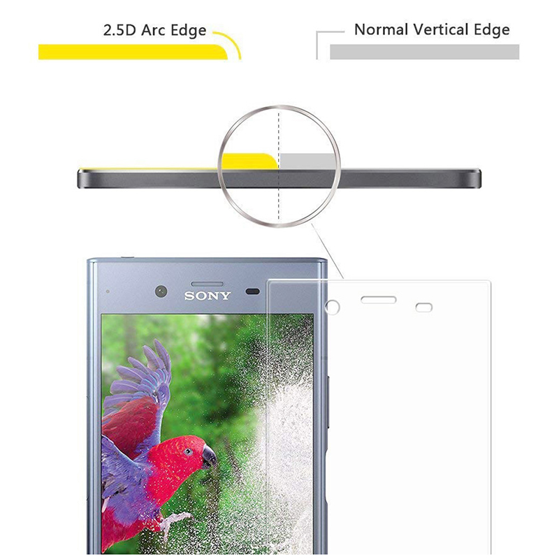 3D Full Cover Slim 9H Hardness Tempered Glass Screen Protector for Sony Xperia XZ1