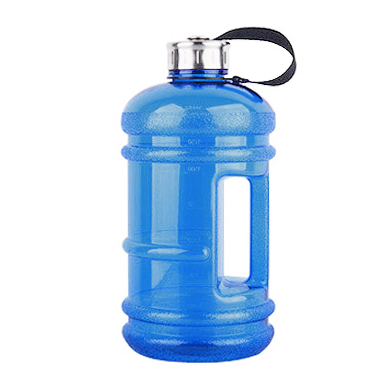 2.2L Big Large Sport Water Bottle BPA Free Leakproof Gym Training Drink Cap Kettle - Dark Blue