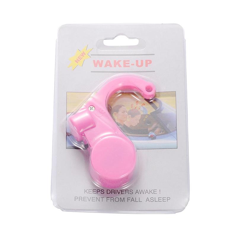 Car Driver Safe Device Anti Sleep Drowsy Keep Awake Alarm Alert - Pink