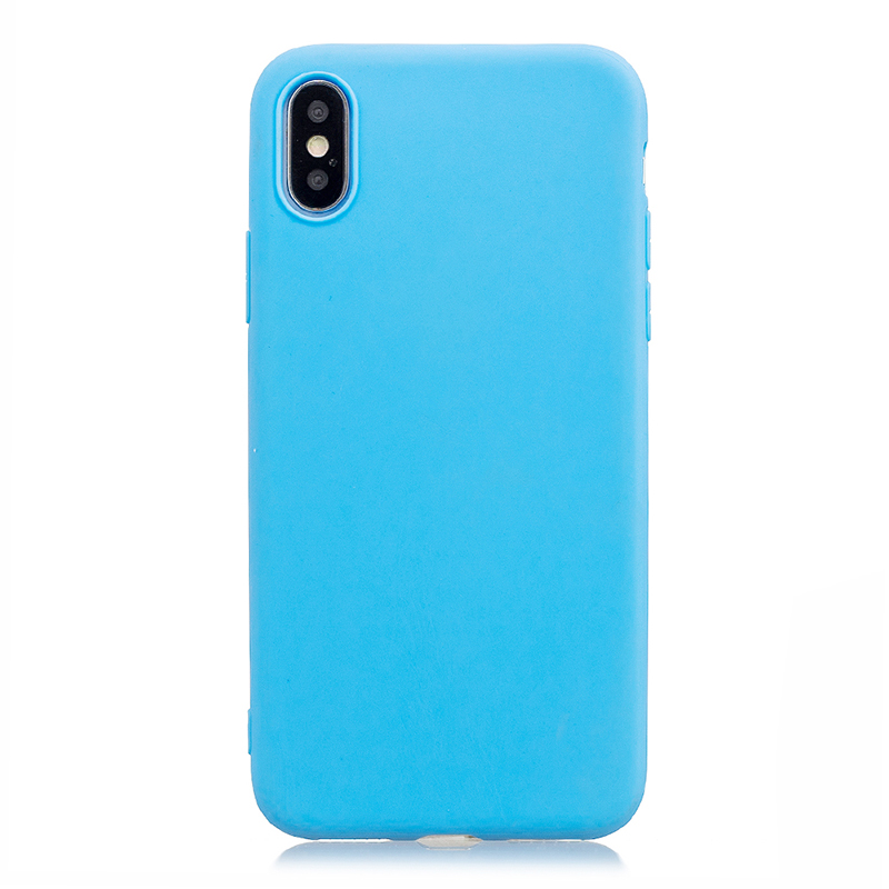Ultra Slim Soft TPU Gel Case Flexible Rubber Silicone Shockproof Back Cover for iPhone X/XS - Blue