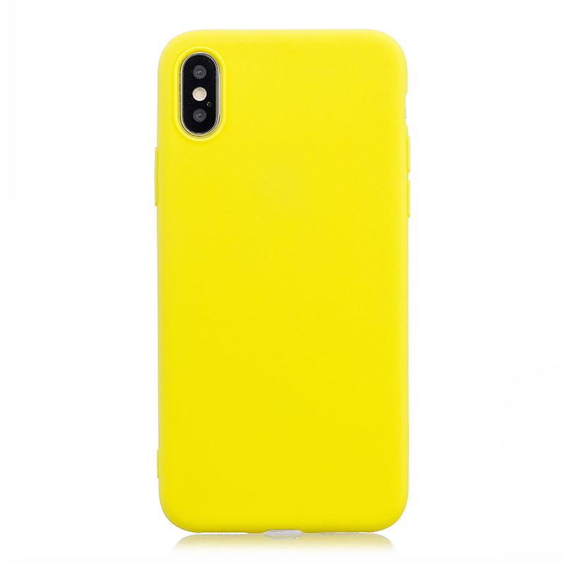 Ultra Slim Soft TPU Gel Case Flexible Rubber Silicone Shockproof Back Cover for iPhone X/XS - Yellow
