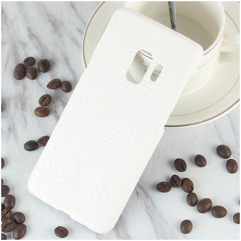 Ultra-Slim Crocodile PU Leather PC Hard Case Back Cover for Samsung S9 - White