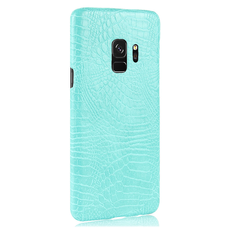 Ultra-Slim Crocodile PU Leather PC Hard Case Back Cover for Samsung S9 - Green