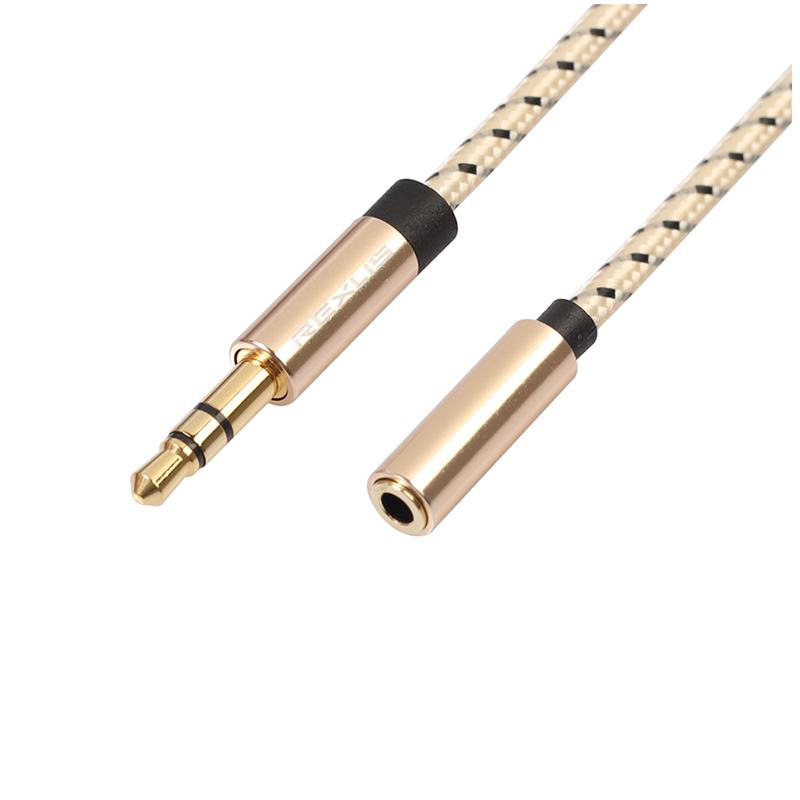 3.5mm Jack Male to Female Braided Aux Cable Stereo Audio Extender Cord for Headphone - 3M