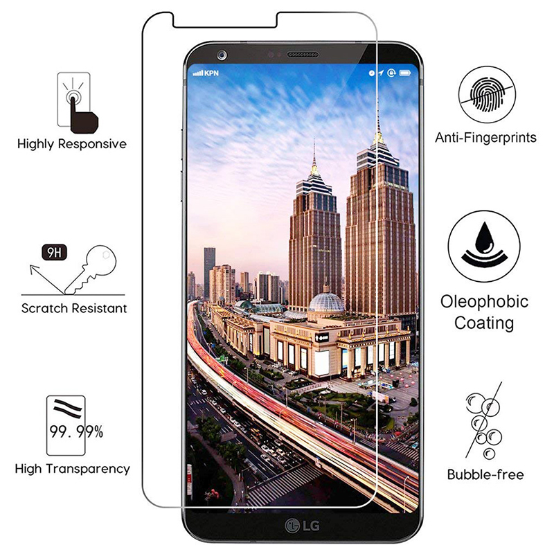 LG G6 Tempered Glass 9H Hardness Anti Scratch HD Clear Screen Protector Film