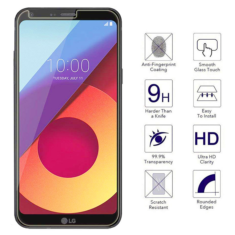 LG Q6 Tempered Glass 2.5D Edges HD 9 Hardness Anti-Scratch Anti-Fingerprint Screen Protector