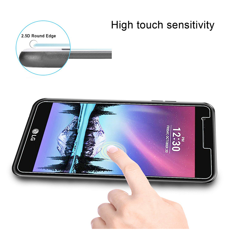Ultra Thin Clear Tempered Glass Scratch Resistant Screen Protector for LG K4 2017
