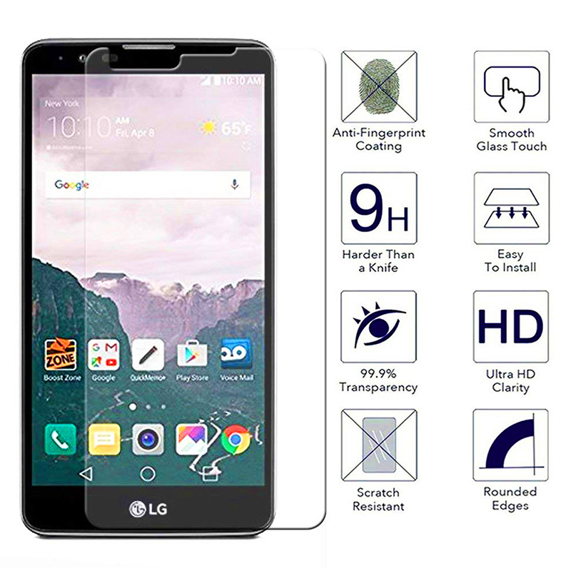 HD-Clear Anti-Scratch Shockproof Tempered Glass Screen Protector for LG Stylo 2 LS775 Stylus 2