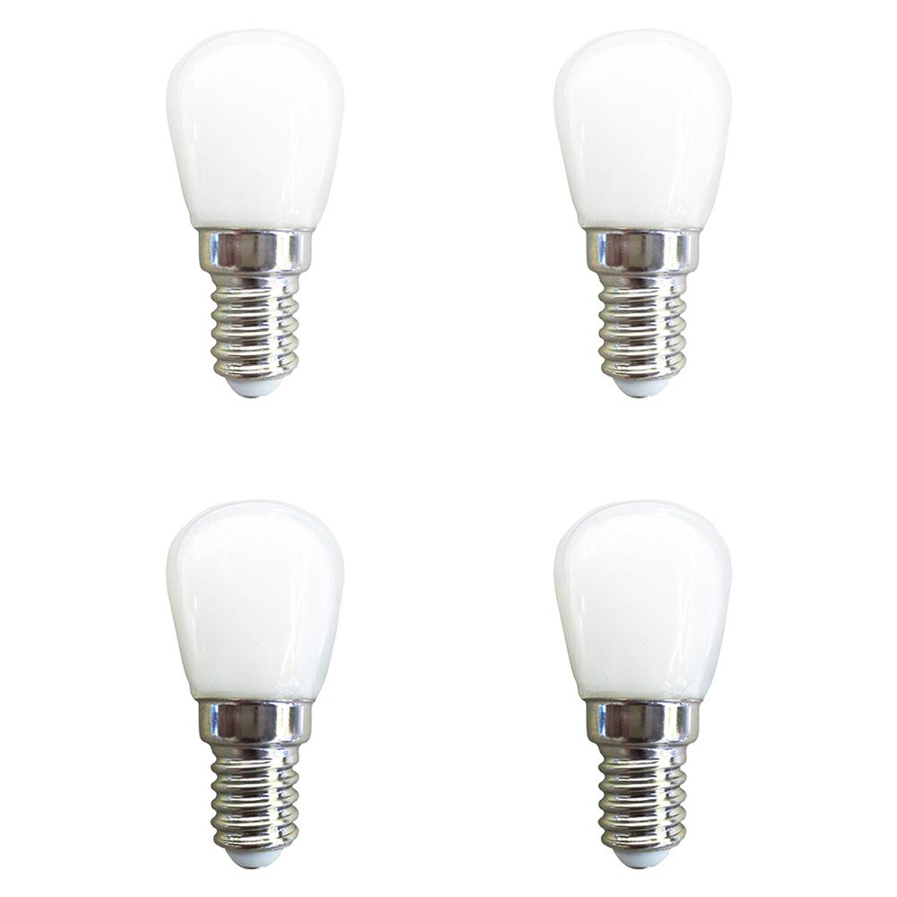 4PCs 2W E14 SMD 2835 220-240V 26 LED Globe Bulbs Light Lamp White Shell - White
