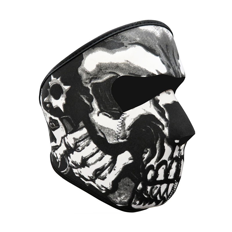 Unisex Windproof Full Face Mask Motorcycle Skiing Snowboarding Bike Facial Protector - Skull 9