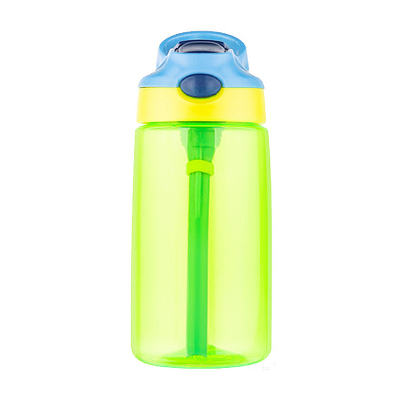500ML Kids Children Straw Sports Water Bottle Leak-proof Drinking Cup - Green