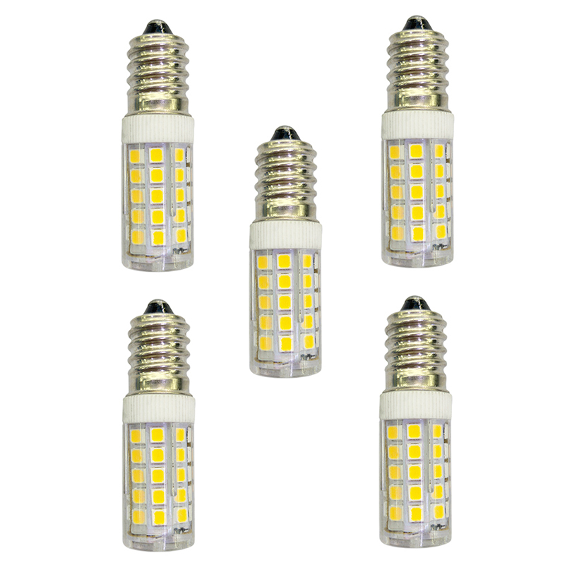 5Pcs 3.5W 280lm E14 LED Bi-pin Lights 44 LED Beads SMD 2835 AC 220-240V Lamp Bulb - Warm White