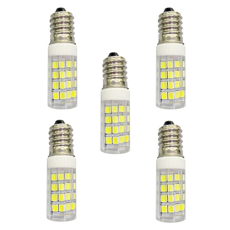 5Pcs 4W 320lm E14 LED Bi-pin Lights 51 LED Beads SMD 2835 AC 220-240V Lamp Bulb - White