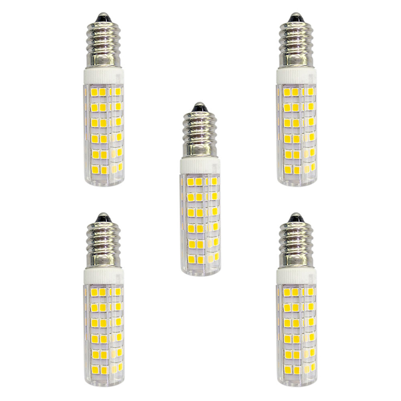 5Pcs 4.5W 360lm E14 LED Bi-pin Lights 76 LED Beads SMD 2835 AC 220-240V Lamp Bulb - Warm White