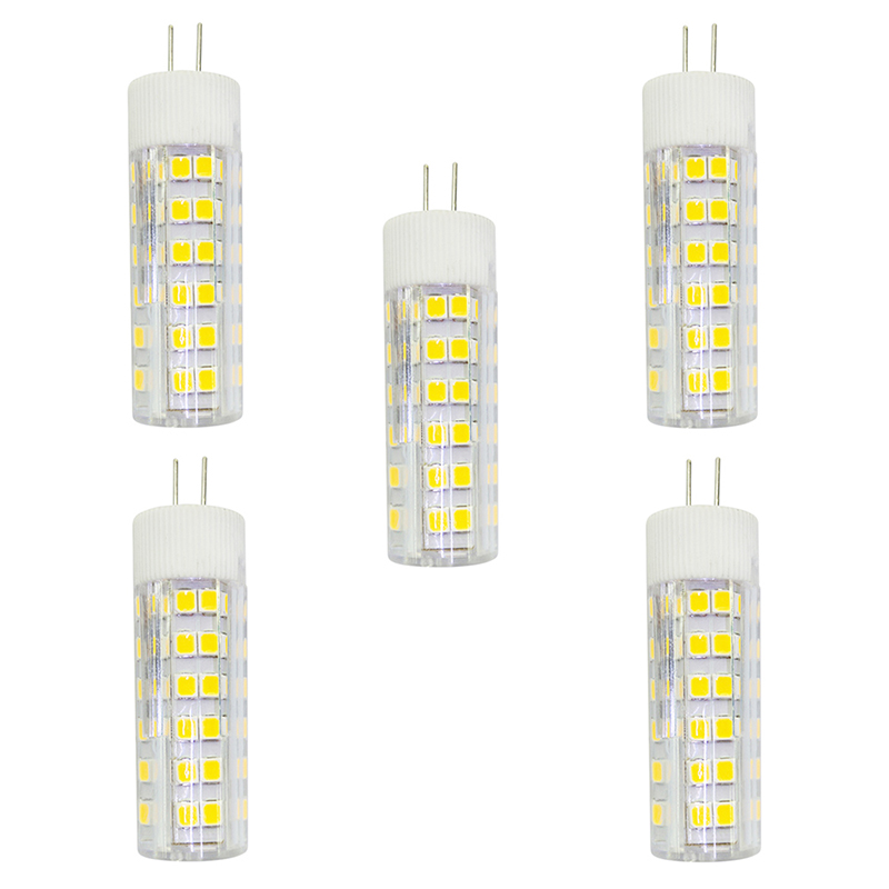 5Pcs 4.5W 360lm G4 LED Bi-pin Lights T 76 LED Beads SMD 2835 AC 220-240V Lamp Bulb - Warm White