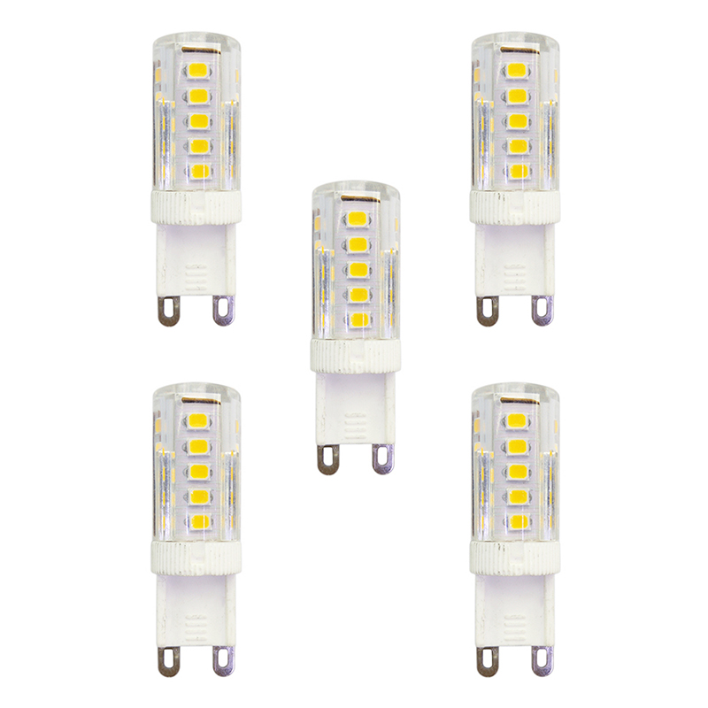 5Pcs 2.5W 210lm G9 LED Bi-pin Lights T 33 LED Beads SMD 2835 AC 220-240V Lamp Bulb - Warm White
