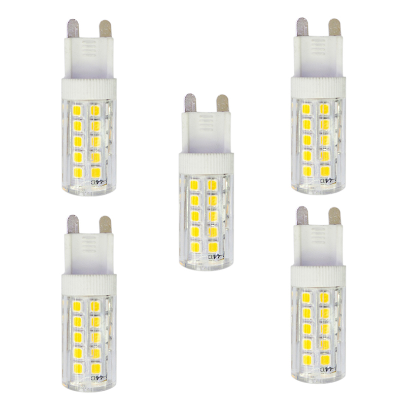 5Pcs 3.5W 280lm G9 LED Bi-pin Lights T 44 LED Beads SMD 2835 AC 220-240V Lamp Bulb - White