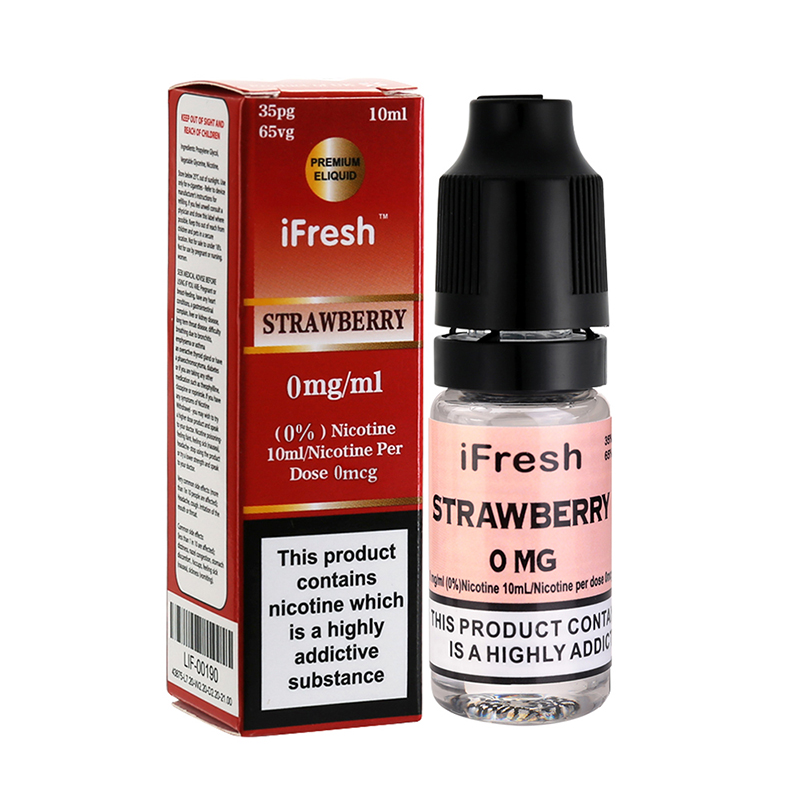 Ifresh Strawberry Premium E Liquid-10ml-0mg