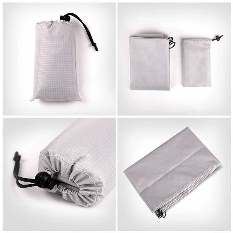 1.4x2M Waterproof Portable Outdoor Folding Picnic Mat Camping Mattress Beach Mat - Grey