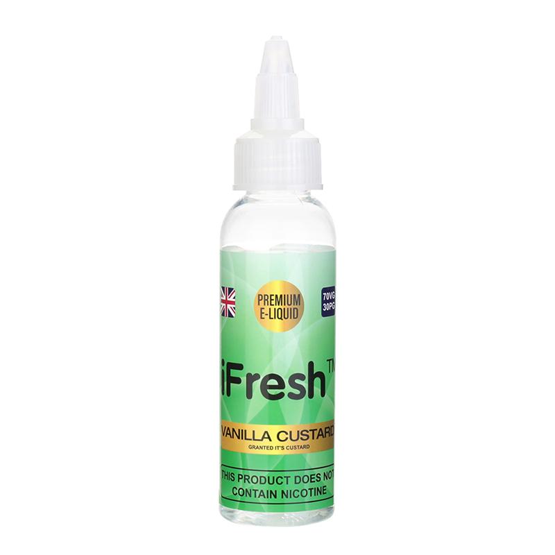Ifresh Nicotine Free E Liquid-Vanilla Custard Flavours-50ml