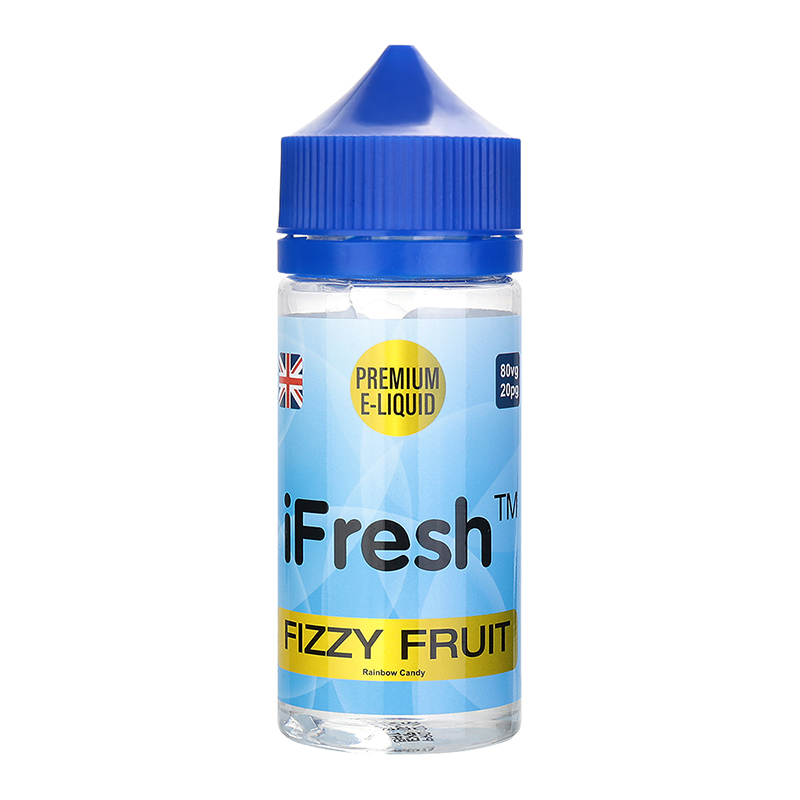Ifresh E Liquid-Fizzy Fruit Flavour-0mg-80ml