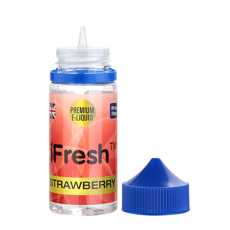 Ifresh E Liquid-Strawberry Flavour-0mg-80ml
