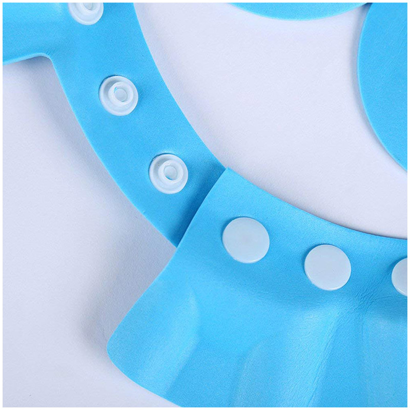 Baby Kids Soft Bath Hat Shower Shampoo Visor Hats Wash Hair Shield Cap - Blue