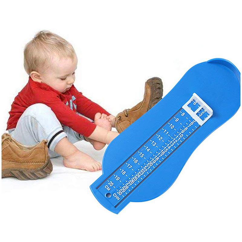 Baby Kids Foot Length Measuring Gauge Device Ruler Shoes Fittings Gauge Tool - Blue