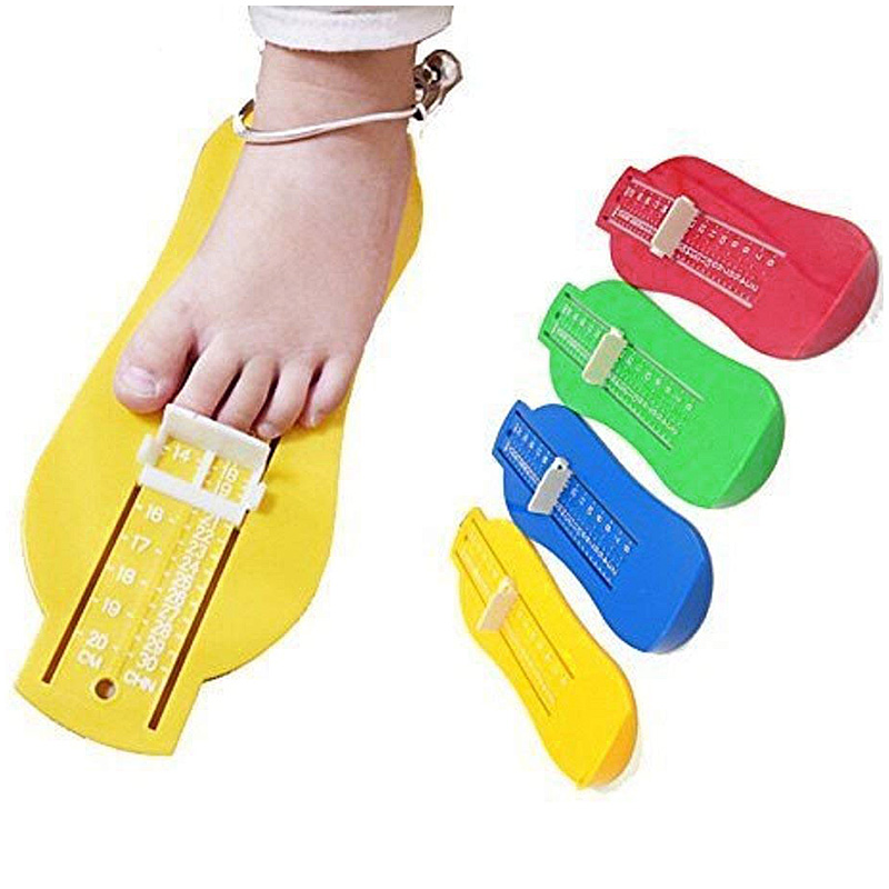 Baby Kids Foot Length Measuring Gauge Device Ruler Shoes Fittings Gauge Tool - Blue