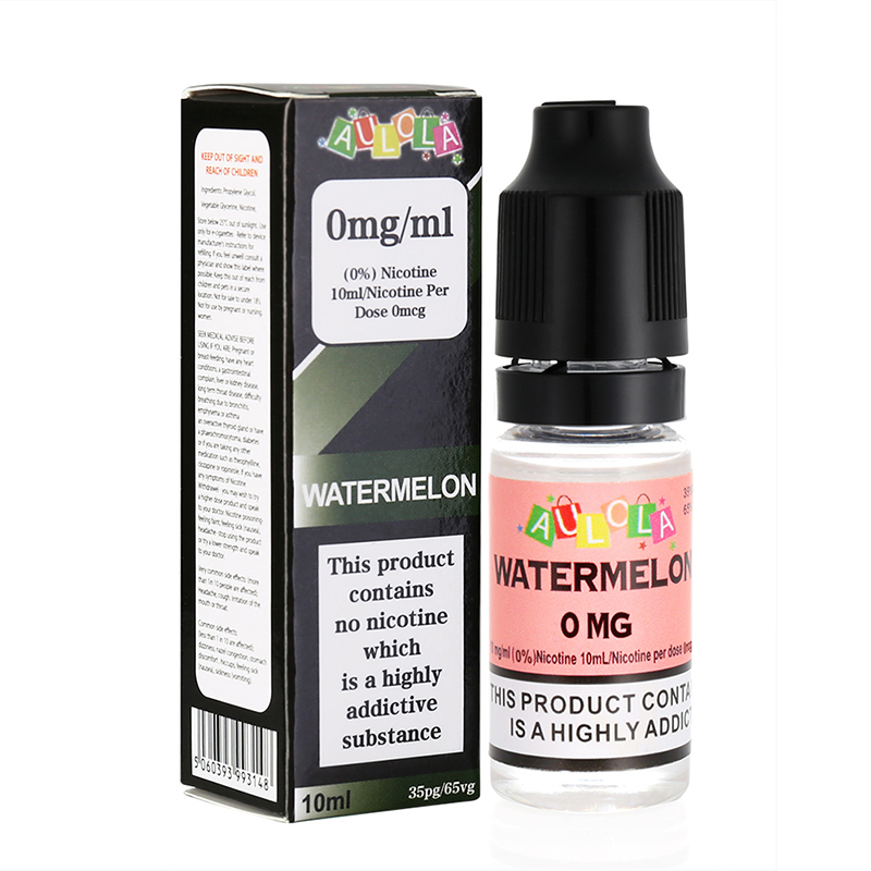 Aulola E Liquid Vape Juice--Watermelon Flavours-10ml-0mg